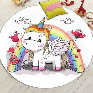 carpet unicorn bedroom child 150cm of diameter at sell
