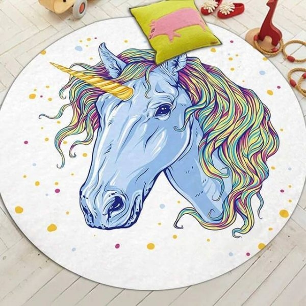 carpet unicorn round 150cm of diameter not dear