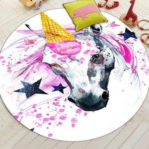 carpet unicorn round anti slip 150cm of diameter price