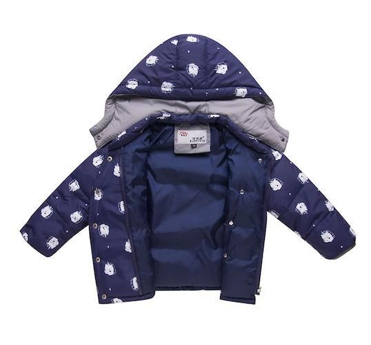 coat combination winter child unicorn blue four years and 95 105cm buy