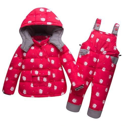 coat combination winter child unicorn blue four years and 95 105cm