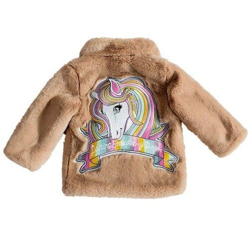 coat hot unicorn child fur pink clear 10 years buy