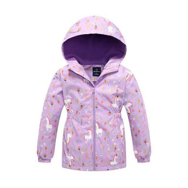 coat polar child unicorn purple 13 years 150cm at sell