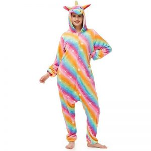 combination pyjamas unicorn bow in sky xl 178 188cm disguise unicorn
