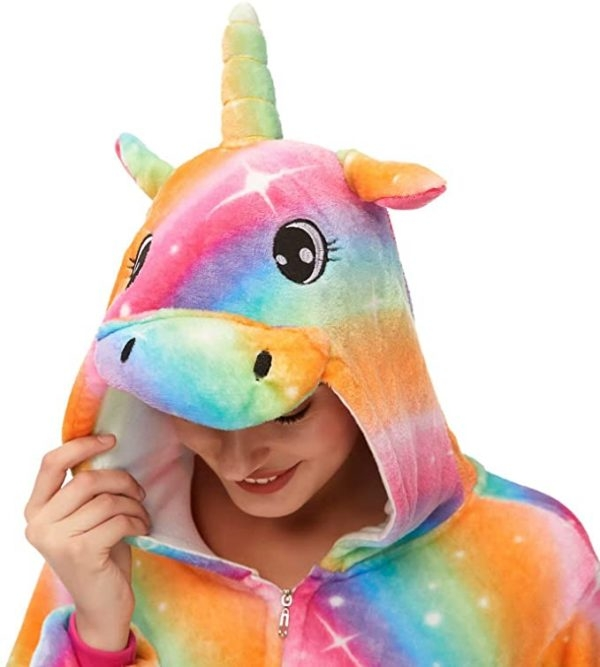 combination pyjamas unicorn bow in sky xl 178 188cm not dear