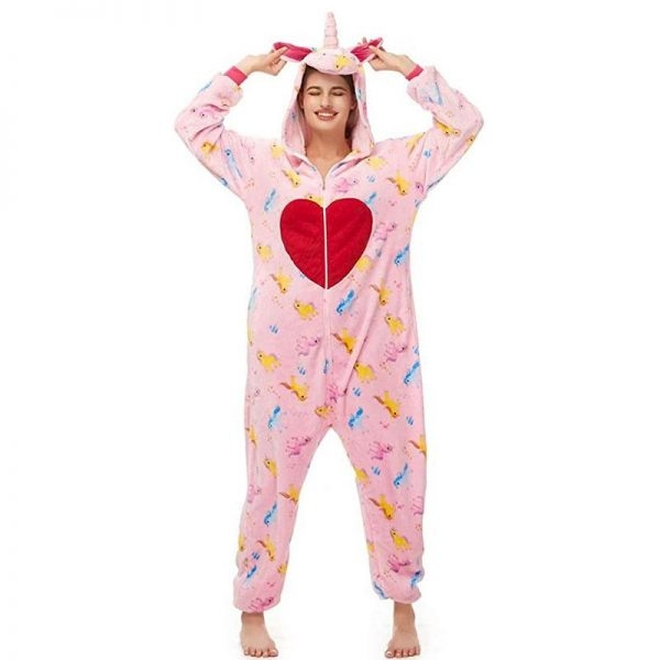 combination pyjamas unicorn heart xl 180 190cm at sell