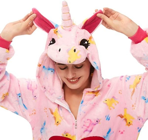 combination pyjamas unicorn heart xl 180 190cm unicorn stuffed animals
