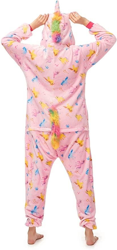 combination pyjamas unicorn heart xl 180 190cm