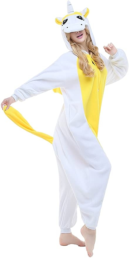 combination pyjamas unicorn yellow xl 178 190cm