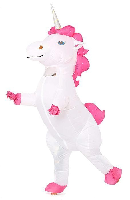 costume of disguise unicorn inflatable