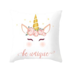 cover of cushion emoji unicorn not dear