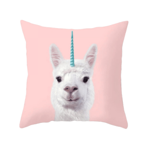 cover of cushion fun unicorn llama