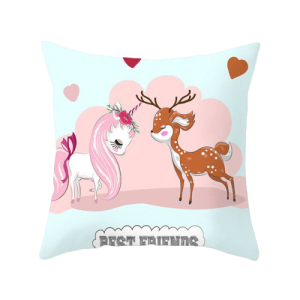 cover of cushion unicorn best friends unicorn stuffed animals
