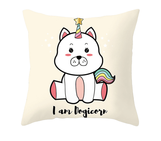 cover of cushion unicorn dog at sell