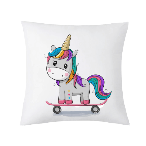 cover of cushion unicorn kawaii skate buy