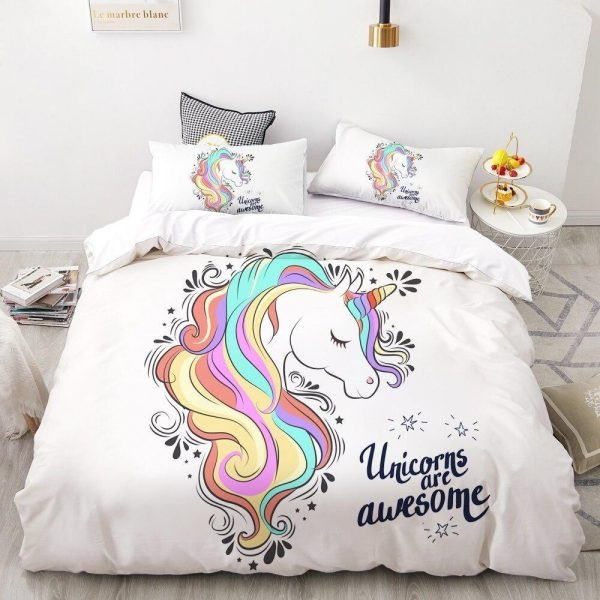 cover of quilt princess unicorn girl 260x220cm gifts unicorn