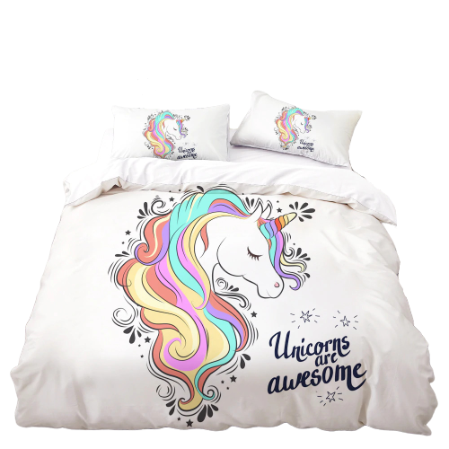 cover of quilt princess unicorn girl 260x220cm unicorn stuffed animals