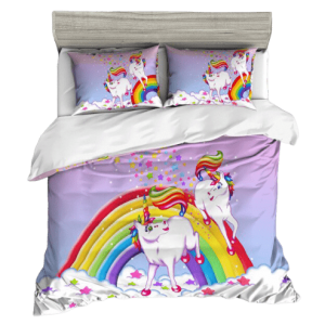 cover of quilt unicorn bow in sky 220x240cm buy