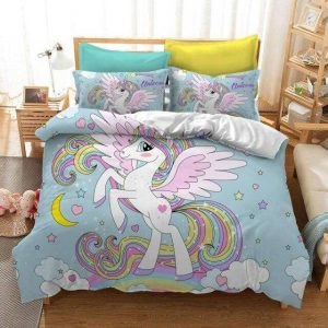 cover of quilt unicorn green 220x260cm room
