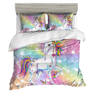 cover of quilt unicorn multicolored 220x240cm not dear