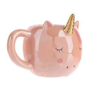 cup in form of unicorn pink kawaii white unicorn stuffed animals
