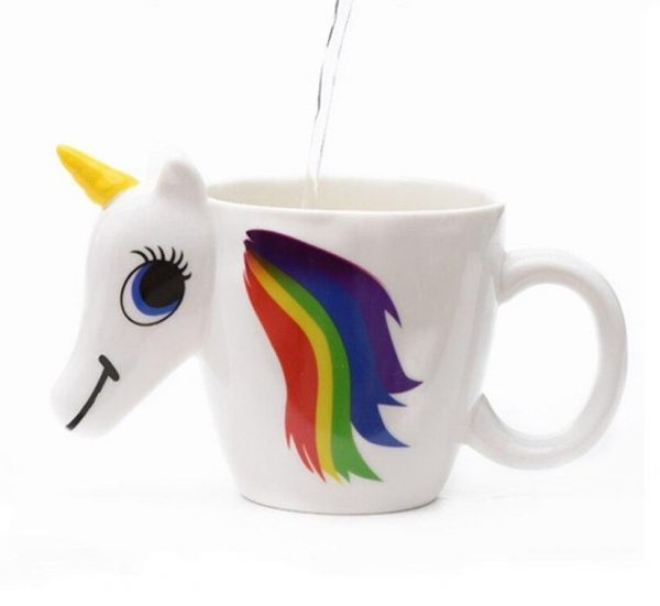 cup unicorn thermosensitive exchange of color unicorn stuffed animals