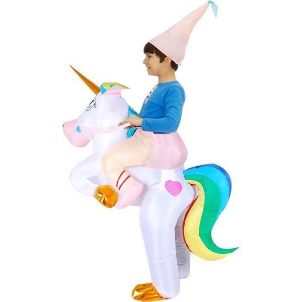 disguise inflatable unicorn party child 80 130cm unicorn stuffed animals