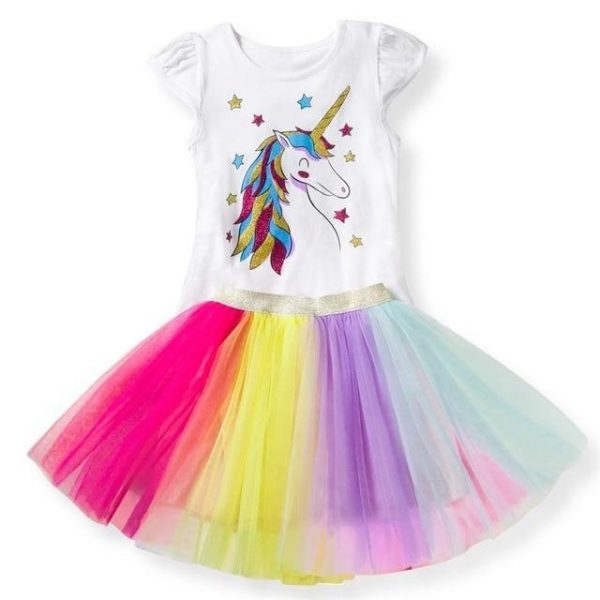 disguise unicorn dress bow in sky 8 years 145cm at sell