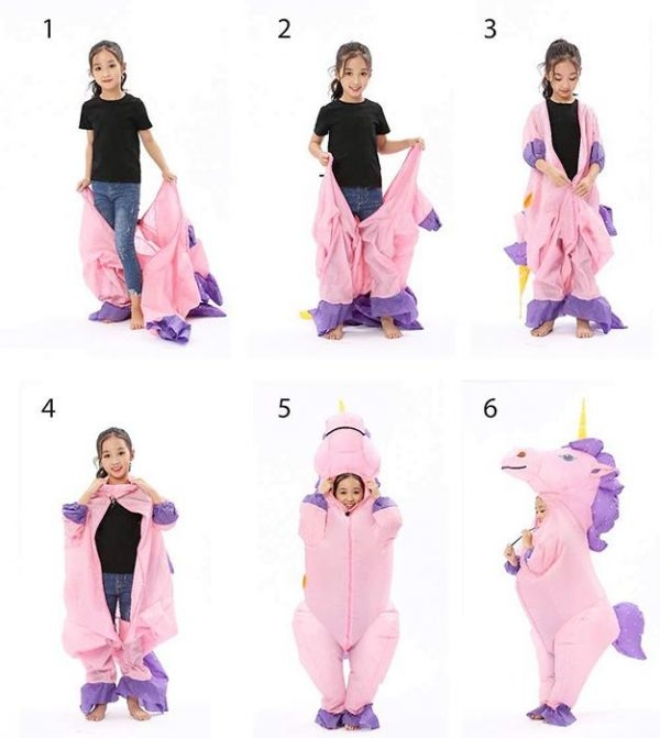 disguise unicorn inflatable integral teenager 135 160cm