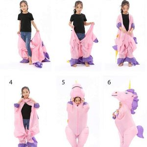 disguise unicorn inflatable integral teenager 135 160cm suit inflatable unicorn