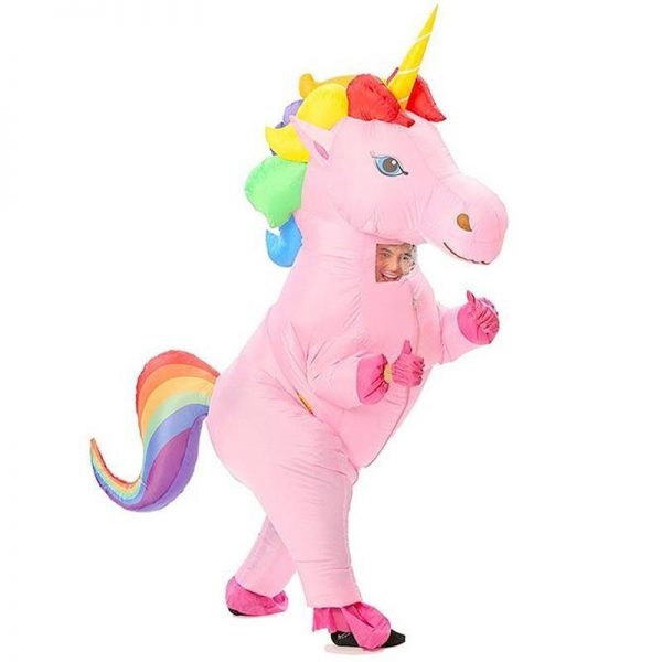 disguise unicorn inflatable multicolored