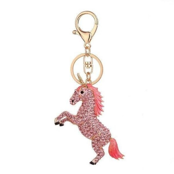 door key unicorn bow in sky pink at sell