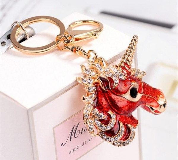 door key unicorn golden red at sell