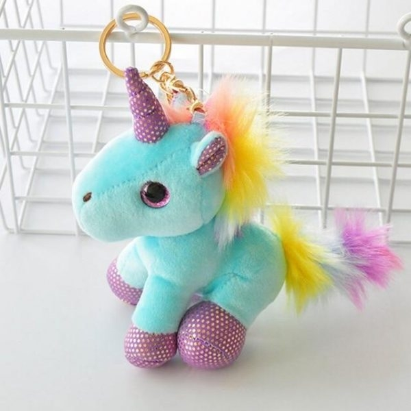 door key unicorn plush yellow