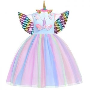 dress disguise multicolored unicorn 13 14 years old 155 cm