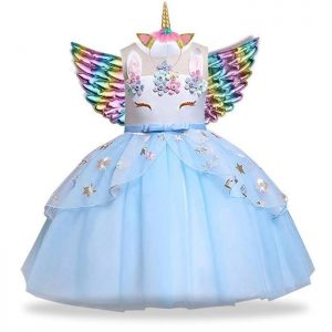 dress disguise unicorn blue girl 13 14 years old 155 cm price