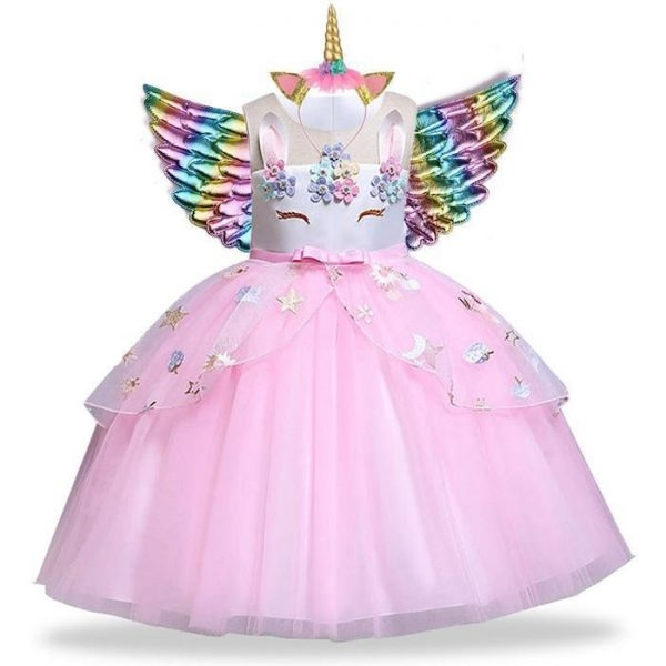 dress disguise unicorn pink girl 13 14 years old 155 cm at sell