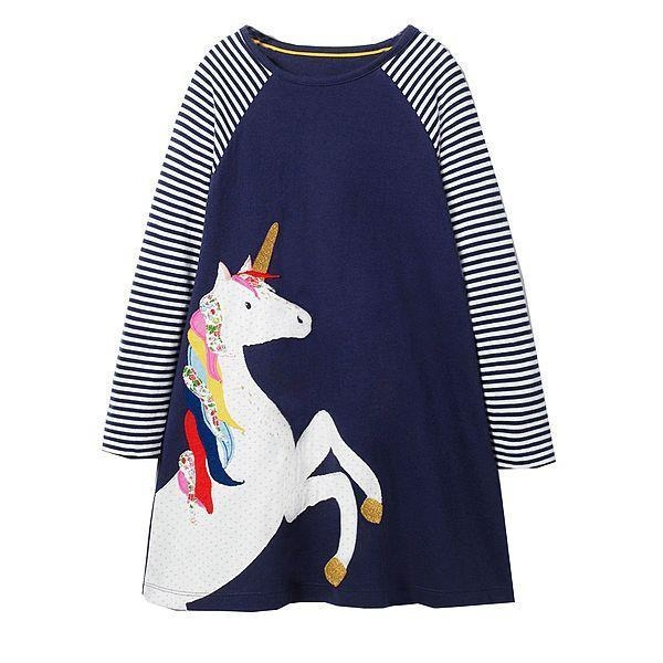 dress long unicorn blue 6 7 years old 95 105cm at sell