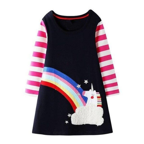dress long unicorn small girl 7 years at sell