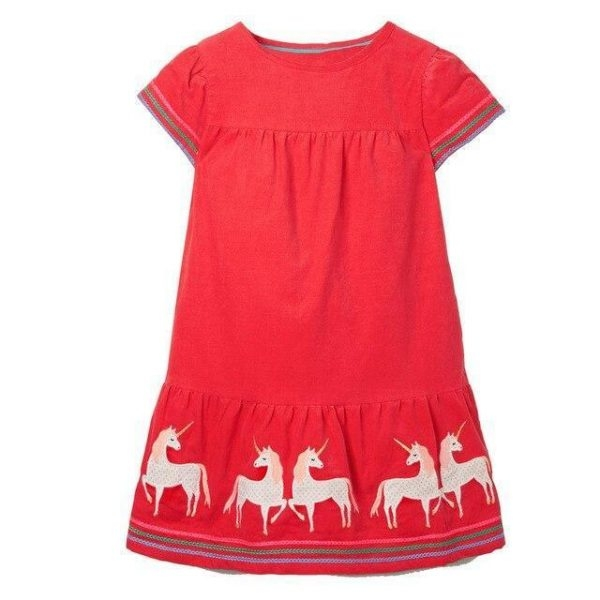 dress long unicorn summer 7 years 115 125cm price
