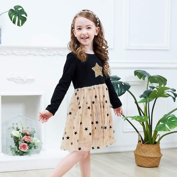 dress slight starry girl 7 8 years at sell