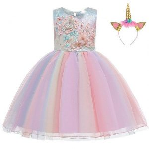 dress unicorn anniversary girl 10 years 155cm
