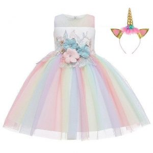dress unicorn at flower girl 10 years 155cm price