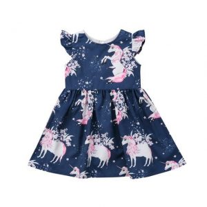 dress unicorn blue for girl 5 6 years old 120cm