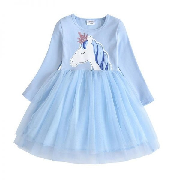 dress unicorn blue for girl 7 8 years at sell