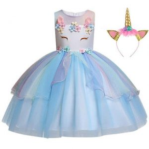 dress unicorn blue girl 10 years 155cm disguise unicorn