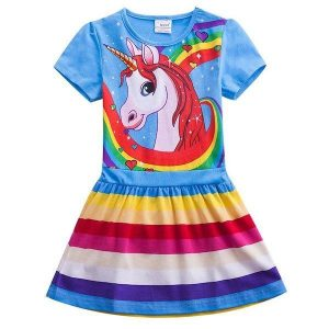 dress unicorn childish 8 years 145cm