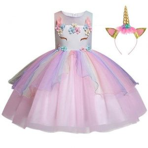 dress unicorn festive girl 10 years 155cm not dear