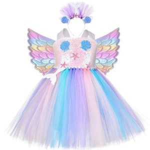 dress unicorn mermaid magical 9 10 years old 140 150cm buy
