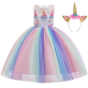 dress unicorn multicolored girl 10 years 155cm